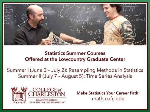 Statistics Summer Courses Offered at the Lowcountry Graduate Center