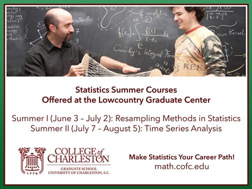 CofC Summer Statistics Courses