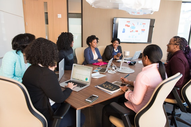 Black Women in business meeting